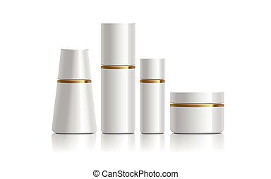 white cosmetic containers