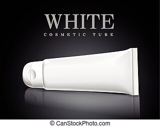 white cosmetic tube