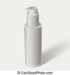 White cosmetics containers