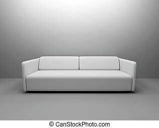 White couch top bright lights