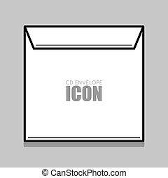White envelope illustration