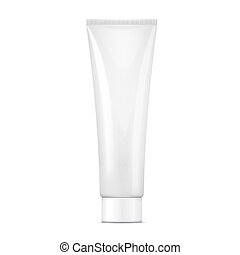 White cream tube mock-up. - White tube mock-up for cream, ...
