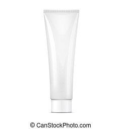 White cream tube mock-up. - White tube mock-up for cream, ...