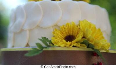 white creamy delicious cake - white creamy cake decorated...