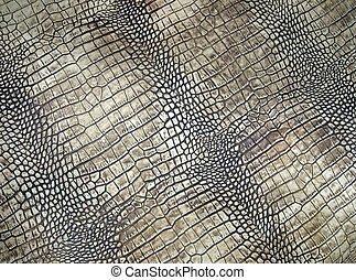 white crocodile skin texture, danger closeup