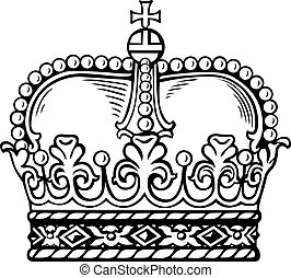 White crown isolated on white background