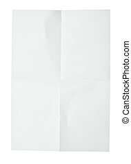 white crumpled note paper - close up of a crumpled piece of...