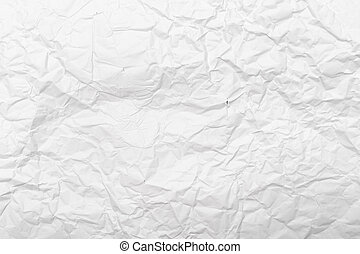 White crumpled paper texture background