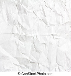 white crumpled paper texture use for background