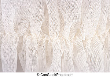 White crumpled tull? - White crumpled tulle close up