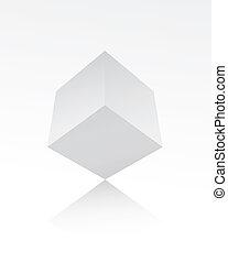 White cube on white