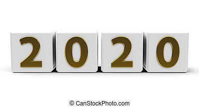 White cubes 2020 #3