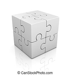 white cubical puzzle