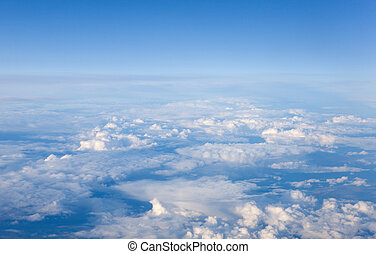 cumulus clouds - White cumulus clouds seen from above