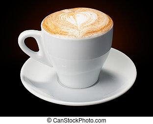 White cup coffee cappuccino, latte