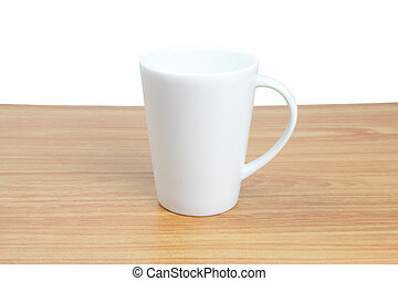 White cup - Empty white cup on wood