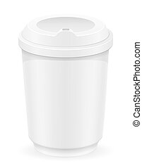 white cup for coffee or tea vector illustration