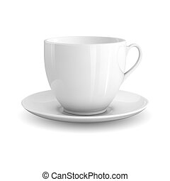 White Cup - High detailed vector illustration of white cup ...