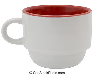 white cup isolated on a white background