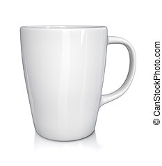 White cup - isolated on white background