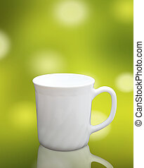 white cup isolated