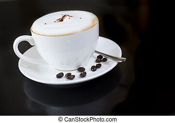 White cup of Fragrant hot coffee - Fragrant coffee it can...