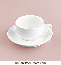 white cup on red background