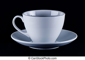White cup on saucer
