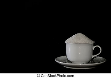 cup with sugar