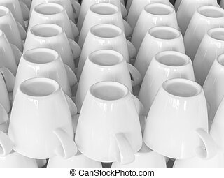 white cups of coffee