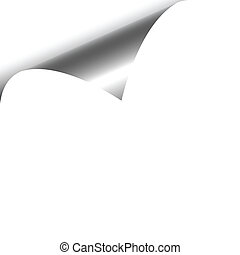 White Curled Paper