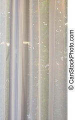 White curtain background - vertical