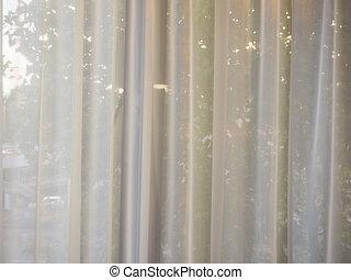 White curtain background
