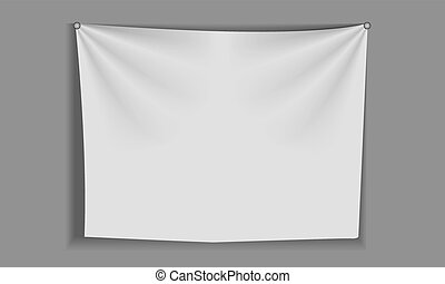 White curtain fabric for backgrounds, mesh vector illustration