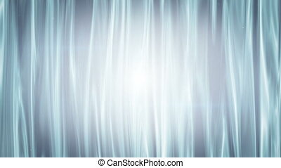 white curtains waving seamless loop animation