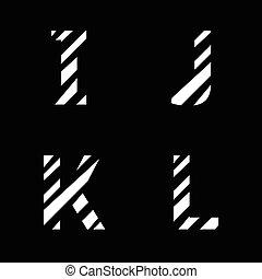White cut letters