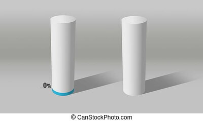 white cylinder indicate 20% and 10% - Growing 3D Cylinder...