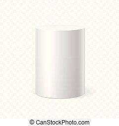 White cylinder on transparent background