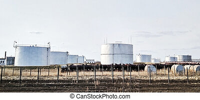 cylindrical tanks for storage - White cylindrical tanks for...