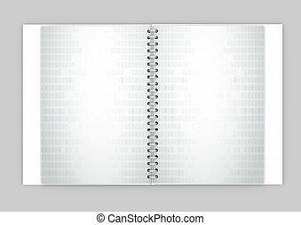 White daily planner, blank or calendar