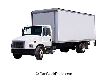 White Delivery Truck isolaated - This is a picture of a ...