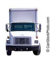 White Delivery Truck isolated - This is a picture of a...