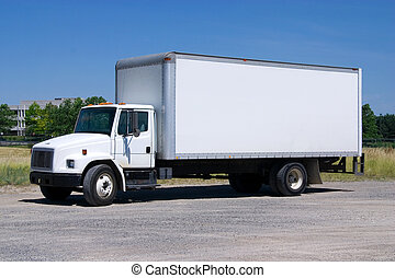 White Delivery Truck - This is a picture of a typical six ...