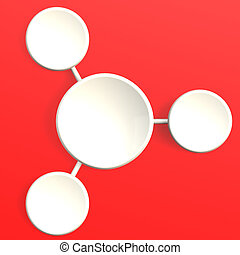 White diagram with red background