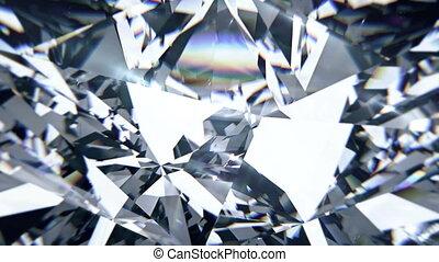 White diamond dispersion footage. Fancy color diamond...