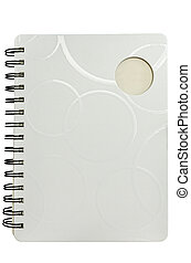 White diary on isolated background