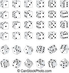 White Dice - Various White Dice