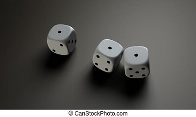 white dice HD720 - The gambling concept