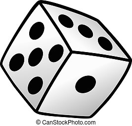 white dice risk taker gamble vector art illustration