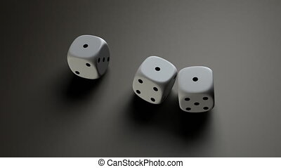 white dice - The gambling concept